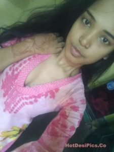 Assamese teen with small tits leaked selfies 005